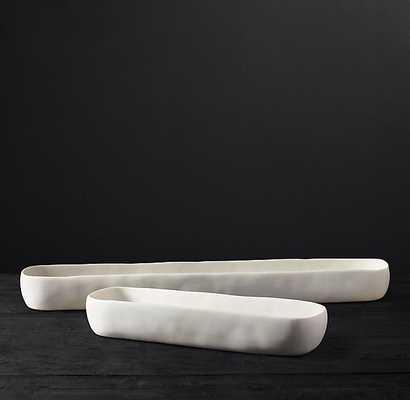 ORGANIC SCULPTED TROUGH COLLECTION - SHORT - WHITE - RH Modern