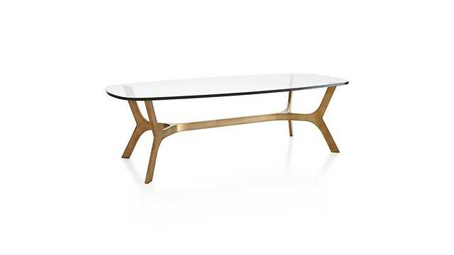 Elke Glass Coffee Table - Crate and Barrel