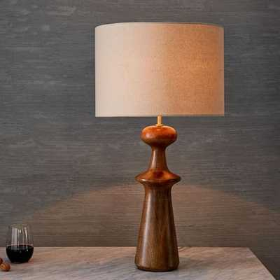Turned Wood Table Lamp - Tall, Acorn - West Elm