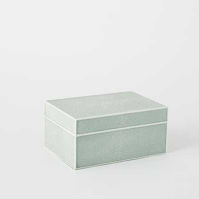Faux Shagreen Box - Celadon - West Elm