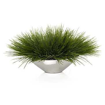 Grass in Silver Pot - Z Gallerie