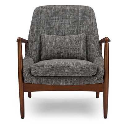 Baxton Studio Dixon Mid-century Modern Grey Fabric Upholstered Lounge Chair - Overstock