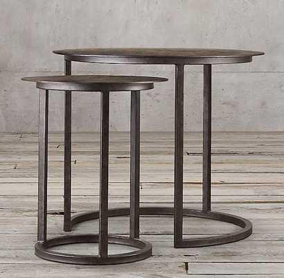 MERCER ROUND NESTING TABLES - RH