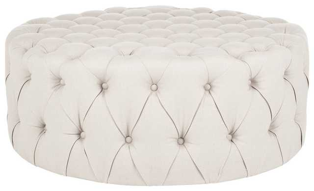 Charlene Tufted ottoman  - Taupe - Arlo Home