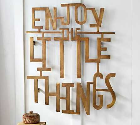 Enjoy The Little Things Wall Art - Pottery Barn