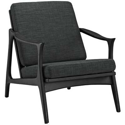 PACE ARMCHAIR IN BLACK GRAY - Modway Furniture