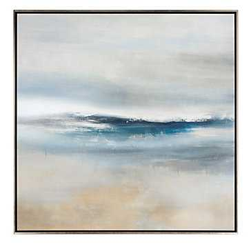 Northern Beach 2 - 48.5'' x 48.5'' - Silver Frame - No Mat - Z Gallerie