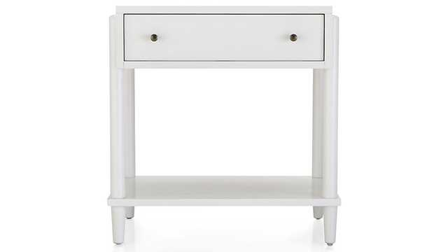Barnes White Nightstand - Crate and Barrel