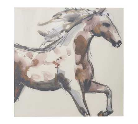 """Painted Horse Canvas - 30"""" sq. - Unframed - Pottery Barn"""