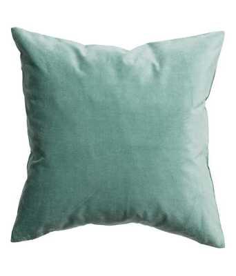 Velvet Cushion Cover - Dark turquoise - 20x20 - Insert Sold Separately - H&M