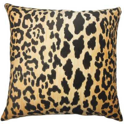Usoa Animal Print Pillow Black - Down Insert - Linen & Seam