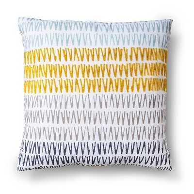 """Embroidered Triangle Decorative Pillow - Citron - Yellow - 18""""L x 18""""W - Polyester insert - Target"""