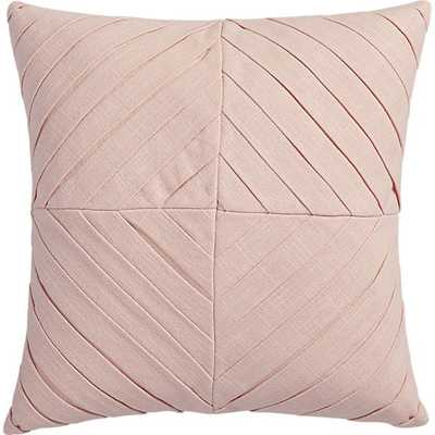 """Meridian blush 16"""" pillow with feather-down insert - CB2"""