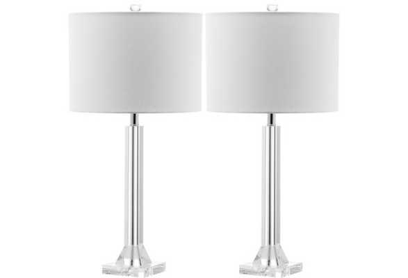 Frances Table Lamp Set, Crystal - One Kings Lane