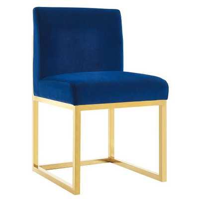 Henderson Navy Velvet Chair - Maren Home