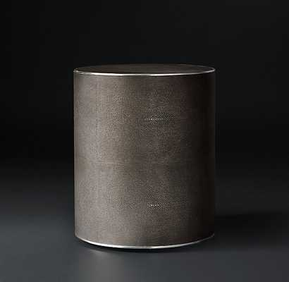 SHAGREEN CYLINDER ROUND SIDE TABLE - RH Modern