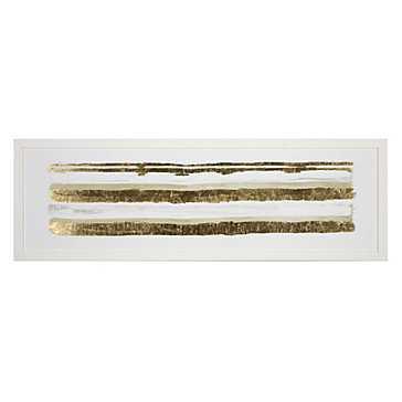 Linear Gold Hues 1 - 41.5''W x 13.5''H  - White Frame - Z Gallerie
