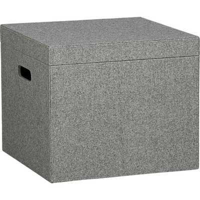 grey felt file box - CB2