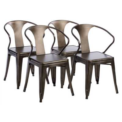 Vintage Tabouret Stacking Chairs (Set of 4) - Overstock