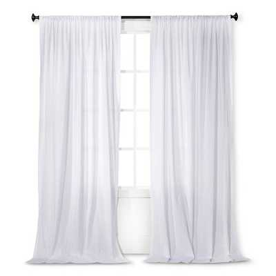 Simply Shabby Chic® Dobby Stripe Sheer Curtain Panel- 95'' - Target