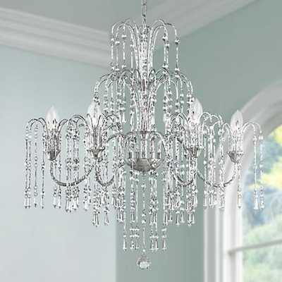 "Crystal Rain 29"" Wide 6-Light Crystal Chandelier - Lamps Plus"