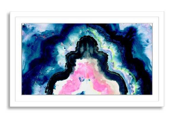 "Kristi Kohut, The Blue Agate - 40"" x 24"" - White Frame with Mat - One Kings Lane"