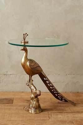 Pavo Side Table - Gold - Anthropologie