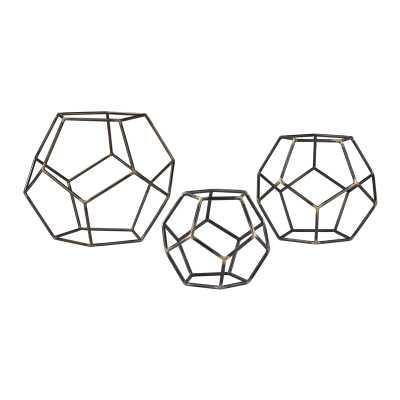 Geometric Orbs - Set of 3 - Rosen Studio