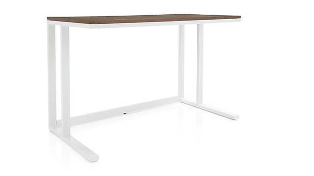Pilsen Salt Desk with Walnut Top - Crate and Barrel