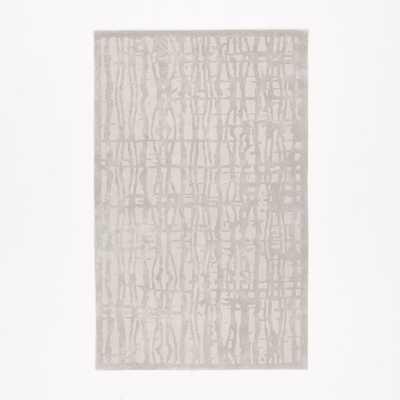 Cascade Wool Rug, 6'x9', Platinum - West Elm