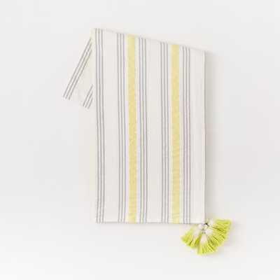 Seersucker Stripe Picnic Throw - Sun Yellow - West Elm
