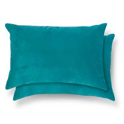 "2 Pack Throw Pillow - Lumbar Teal - 18"" x 12"" - Polyester Fill - Target"