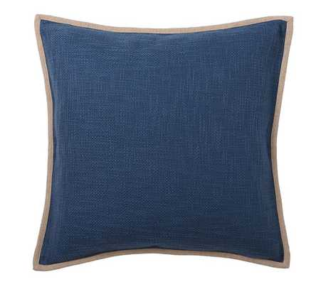 """Basketweave Pillow Cover - 24"""" square - Blue Jay - Insert Sold Separately - Pottery Barn"""