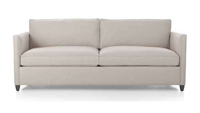 Dryden Queen Sleeper Sofa - Flax - Crate and Barrel