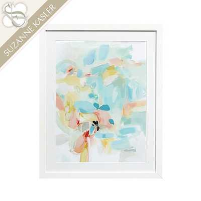 Suzanne Kasler Whisper Abstract Art Print II - 38x30, White frame with mat - Ballard Designs