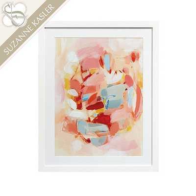Suzanne Kasler Whisper Abstract Art - Print VII - 38 x 30 - Framed (Matte white) - Ballard Designs