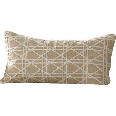 """Emma Jute Lumbar Pillow Cover - 11"""" H x 21"""" W - Polyester/Polyfill - Birch Lane"""