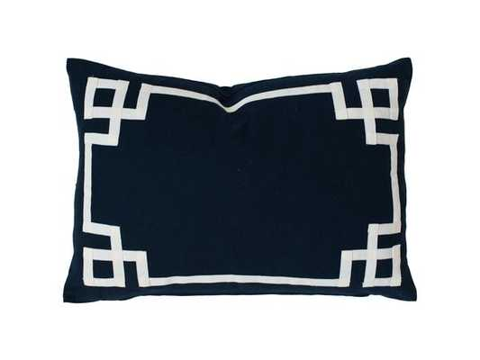 "NAVY DECO PILLOW - 16""X26"" - No Insert - Caitlin Wilson"