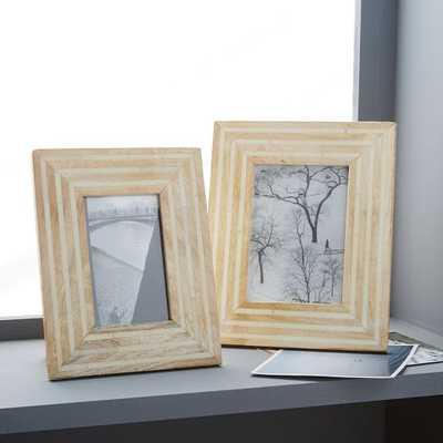 """Wood + Bone Frame - 4""""x6"""" - West Elm"""