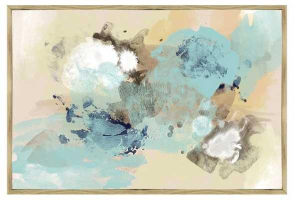 """Blue Sky Abstract Inverse-Framed (Oak) Giclée - 46""""x31"""" -  No Mat - One Kings Lane"""