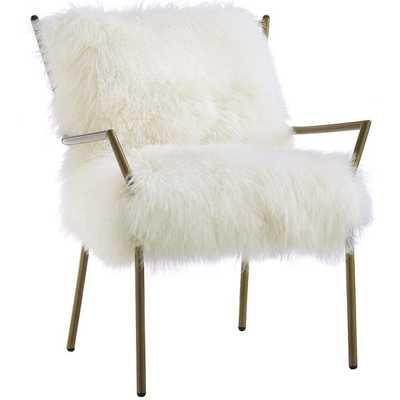 Lena Sheepskin Chair, White - High Fashion Home