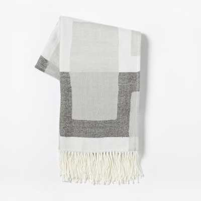 Warmest Throw - Oversized Geo - Slate - West Elm