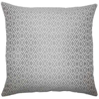 "Calanthe Geometric Pillow Pewter - 18"" x 18"" - Polyester Insert - Linen & Seam"
