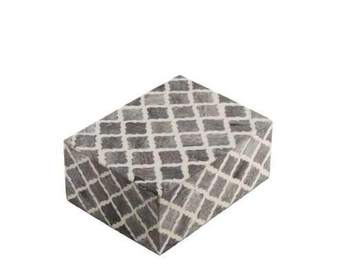 Naturals Storage Box Moorish Gray Small 4.5x6x2.5 - Alma Decor
