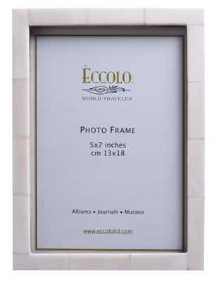 "Naturals Frame Simple Bone Ivory, 4"" x 6"" - Alma Decor"