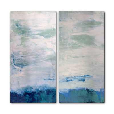 """Ready2HangArt 'Abstract' Oversized 2-piece Canvas Wall Art - 40""""x20"""" - Unframed - Overstock"""