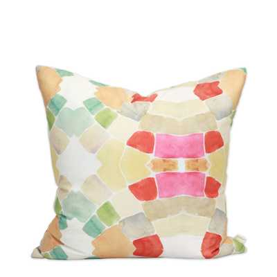 "Mid Century Pop Pillow - 20""x20"" - Down Insert - bunglo"