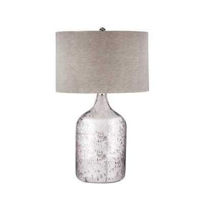 Tapered Mercury Glass Jug Lamp - Rosen Studio