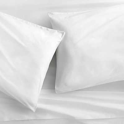 organic white percale sheet sets-queen - CB2