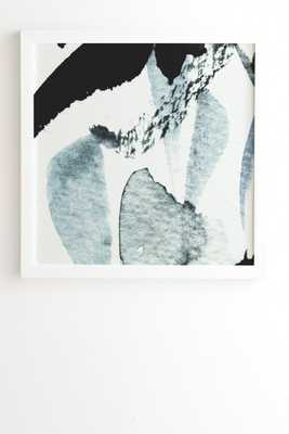 "ABSTRACTM5 Wall Art - 12"" x 12"" - White Frame with Mat - Wander Print Co."
